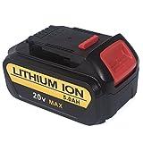 FLAGPOWER 20V 5.0Ah Lithium Replacement Battery for Dewalt Premium XR DCB205-2 DCB200-2 DCK296M2 DCK280C2 DCK281D2 DCK286D2 DCK421D2 DCD980M2 DCK290L2