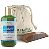 Botanical Hair Growth Lab Biotin Shampoo - Clove Leaf Moringa Formula - Anti Hair Loss Complex - DHT Blockers, Sulfate Free, Natural Ingredients for Men & Women - 10.2 Fl Oz