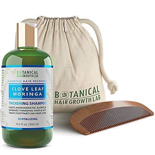 Hair Growth Biotin Shampoo- Clove Leaf Moringa Formula- Anti Hair Loss Complex- DHT Blockers, Sulfate Free, Natural Ingredients for Men & Women