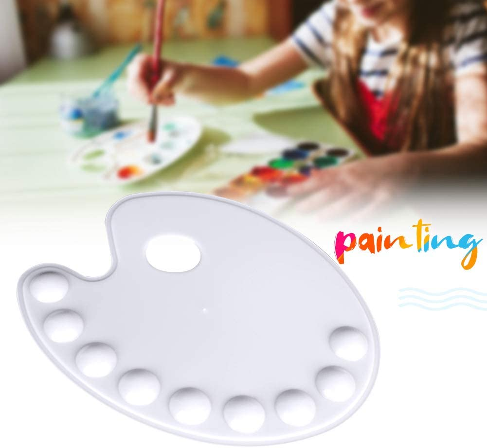 Spachy 1PC Plastic Artist Paint Tray Palette Non-Stick Painting Pallet Art Paint Palette Drawing Tray with 9-wells Art Supplies