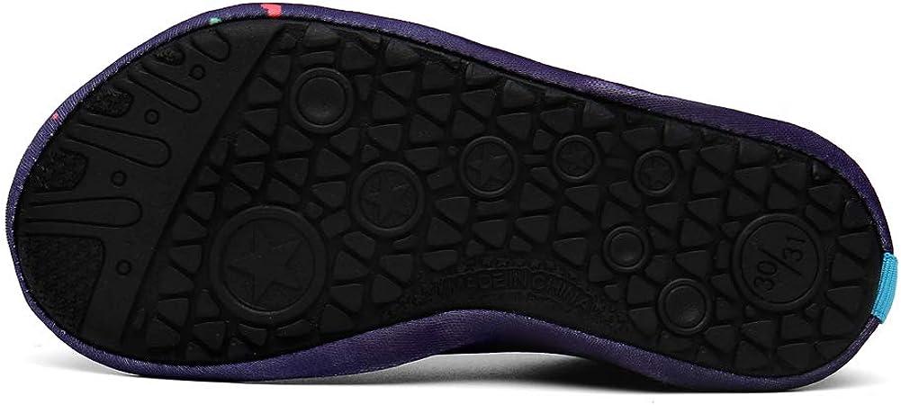 SOLLOMENSI Mujer Hombre Zapatos de Agua Escarpines para Ni/ños Ni/ñas Secado R/ápido Calcetines Descalzos de Aqua para Al Aire Libre Playa Nadando Paseo Surf Buceo Snorkel Yoga Ejercicio