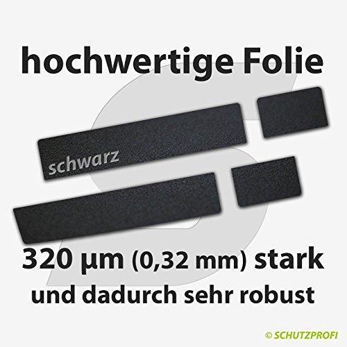 f/ür TOYOTA AYGO ab 2014 T/ürschwellerschutzfolien 320 /µm 5-T/ürer schwarz