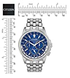 Citizen Eco Drive Men's BU2021 51L Calendrier Stainless Steel Watc (Small Image)