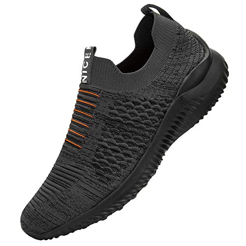 Lxso Women's Men's Walking Shoes Casual Athletic Socks Mesh Breathable Gym Sports Running Work Slip-on Sneakers Shoes