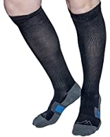 Wanderlust Air Travel Socks: Premium Compression Stockings For Men & Women. Guaranteed To Prevent Swelling, Pain, Edema, & DVT - Medical Grade Graduated Support, Recovery, And Relief - Best For Airplane Flight, Diabetics, & Arthritis!
