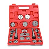 YITAMOTOR 21 Piece Universal Front and Rear Caliper Disc Brake Screw-In Wind Back Rewind and Piston Compression Tool Kit Set