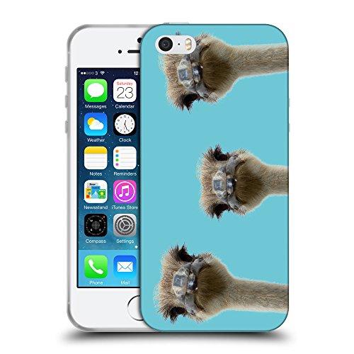 GoGoMobile Coque de Protection TPU Silicone Case pour // Q05530627 3 autruches Ciano // Apple iPhone 5 5S 5G SE