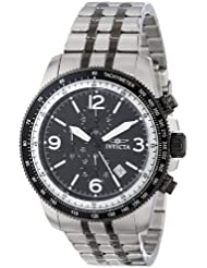 Invicta Mens 15143 Specialty Chronograph Black Dial Two-Tone Watch