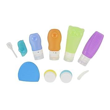 ieGeek Kit de Accesorios de Silicona de baño de Cuidado y Limpieza de Viaje al Aire Libre Diez Piezas en un Paquete: Amazon.es: Hogar