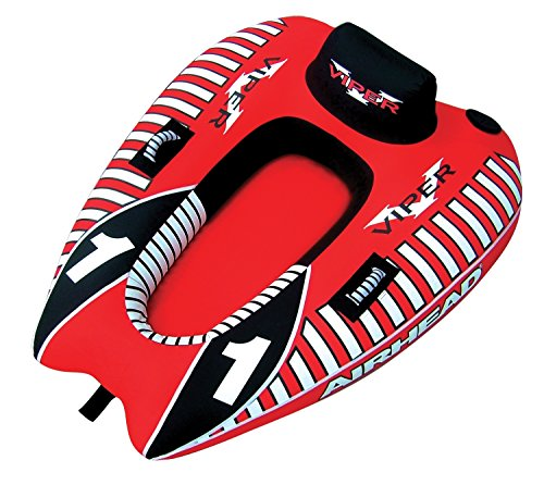 AIRHEAD AHVI-F1 Viper 1 Single Rider Cockpit Inflatable Towable Lake Water Tube
