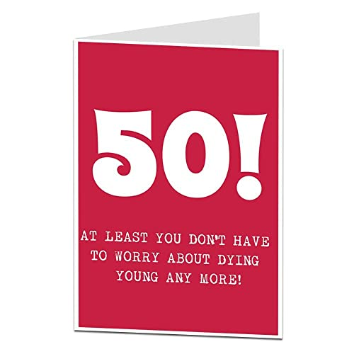 Funny Sarcastic 50 50th Happy Birthday Card For Men Women