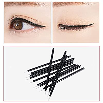 Disposable Silicone and Nylon Eyelash Brush Cosmetic Eyelash Extension Applicators for Makeup Tool Kit