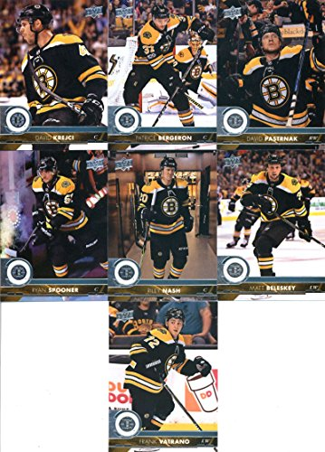2017-18 Upper Deck Series 2 Boston Bruins Team Set of 7 Cards: David Krejci(#263), Patrice Bergeron(#264), David Pastrnak(#265), Ryan Spooner(#266), Riley Nash(#267), Matt Beleskey(#268), Frank Vatrano(#269)