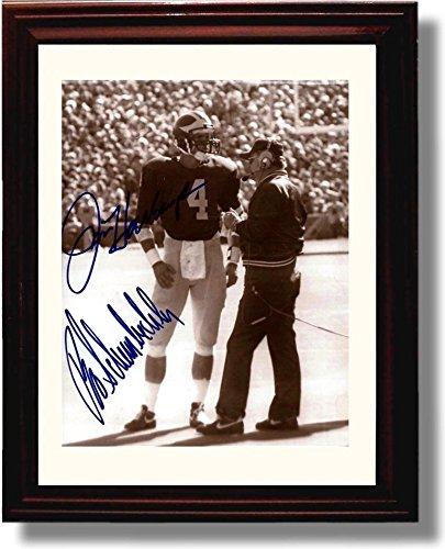 Wolverine Autograph - Framed Jim Harbaugh & Bo Schembechler Michigan Wolverines Autograph Replica Print