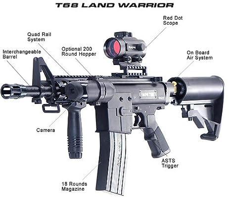 Amazon Com T68 Land Warrior Paintball Guns Sports Outdoors