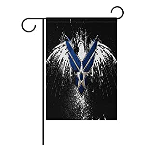 """ONEERA US Air Force USAF United States Air Force Logo Weatherproof Polyester Garden Flag 12"""" x 18"""" Seasonal Home Banner"""