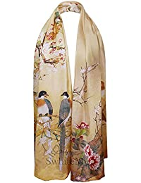 Luxurious 100% Silk Charmeuse Long Scarf