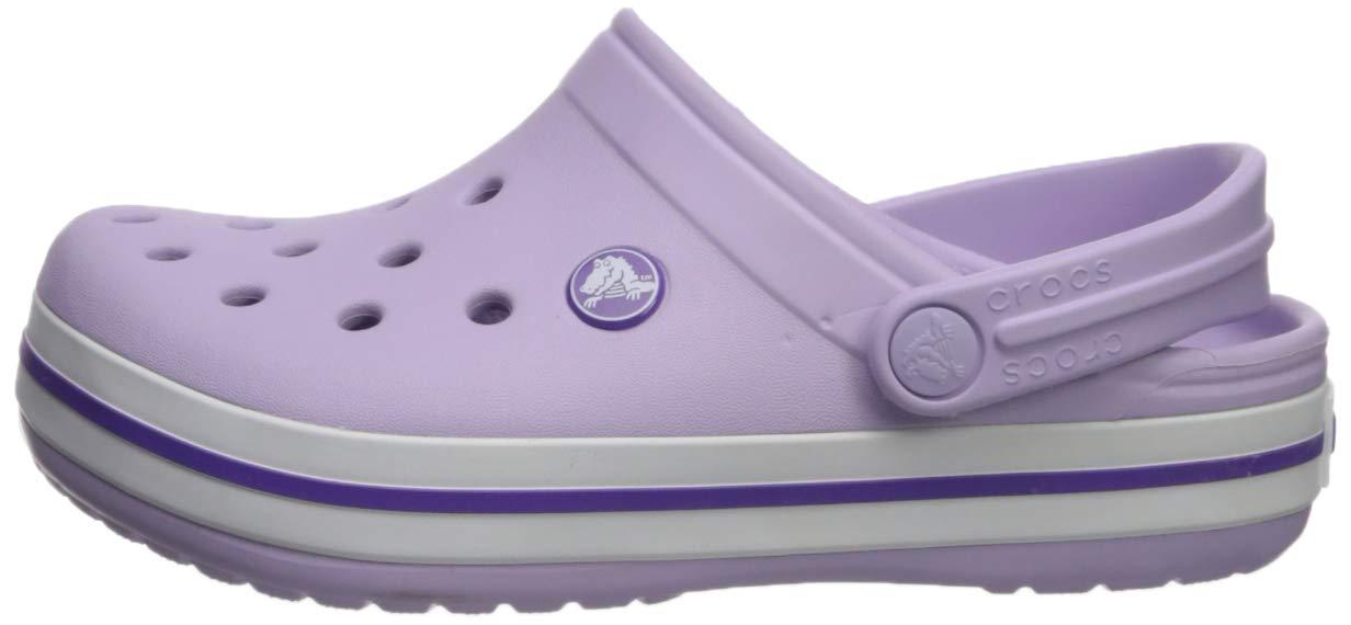 Crocs Kids' Crocband Clog, Lavender/Neon Purple, 10 M US Toddler by Crocs (Image #5)