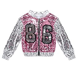 Street Dance Costume Sequins Jacket