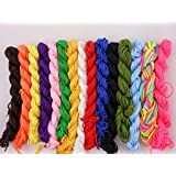 18 Assorted Different Color (80 Feet 1 mm) Nylon Beading String or Knotting Cord,Chinese Knotting Beading Cord , Nylon Knot Rattail Strand Bracelet Cord Macrame Jewelry Beading Thread Rope