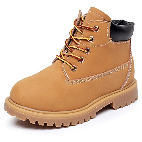 Shenn Boys' Lace up Handsome Ankle High Tendon Combat Boots