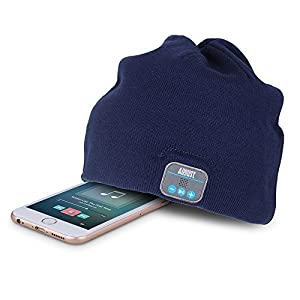 August EPA20 – Bluetooth Headphone Hat - Winter Beanie Hat with Bluetooth Stereo Headphones, Microphone, Hands Free System and Rechargeable Battery