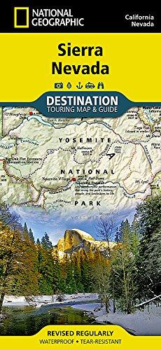 John Muir Wilderness Map - Sierra Nevada (National Geographic Destination Map)