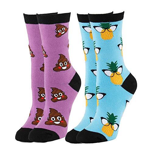 canada Crew Colorful Emoji 2pair PineappleEmoji NEVSNEV Poop Women Patterned Pineapple Pizza Fashion Socks SwqgYfHg