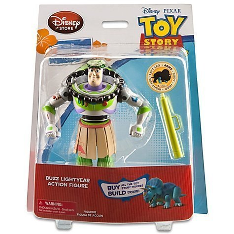 Toy Story Hawaiian Vacation Buzz Lightyear Action Figure -- 6'' H -- With Build Trixie Parts -