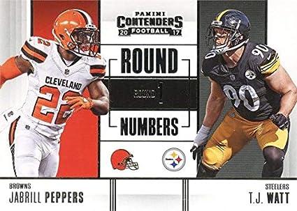 T.J. Watt   Jabrill Peppers football Card (Pittsburgh Steelers ... 94834ce23