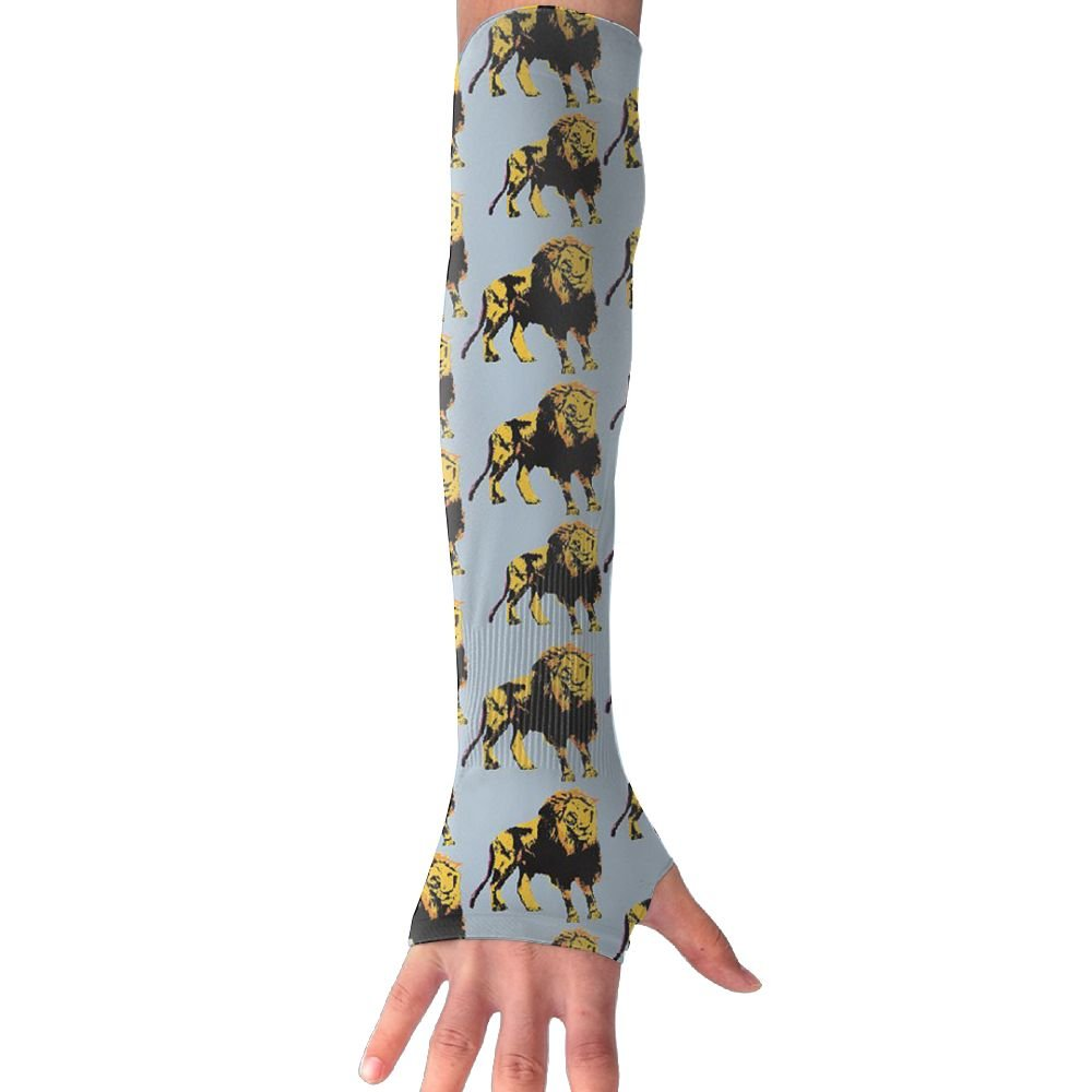 Unisex Retro Lion Sense Ice Outdoor Travel Arm Warmer Long Sleeves Glove