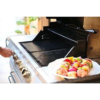 Hyfive - BBQ Grill Mat/Sheet - Resistant & Non-Stick - Black - Pack of 2 : Garden & Outdoor