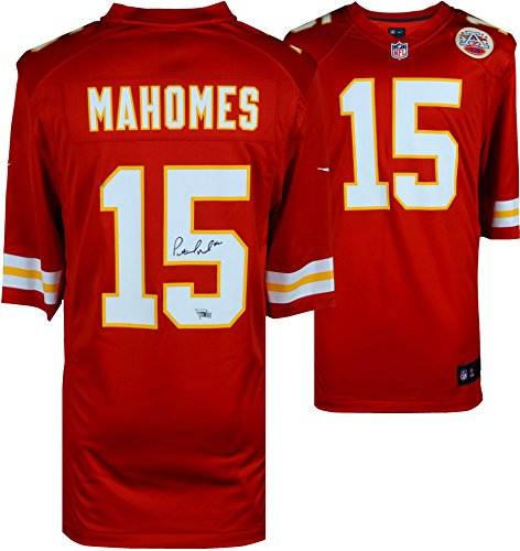 Patrick Mahomes Kansas City Chiefs Autographed Red Nike Game Jersey - Fanatics Authentic Certified - Autographed NFL Jerseys ()