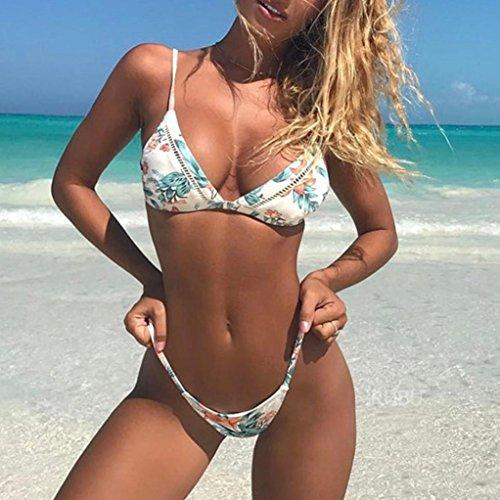 SMARTLADY Mujer Push-up Bikini Acolchado Bra Trajes de baño A