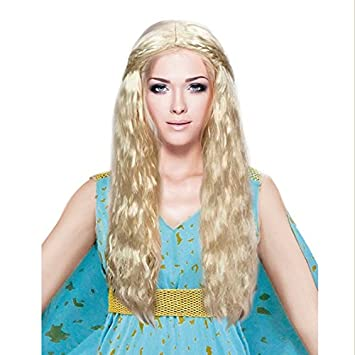 Partilandia Peluca Rubia de Princesa Dragón Accesorio Carnaval