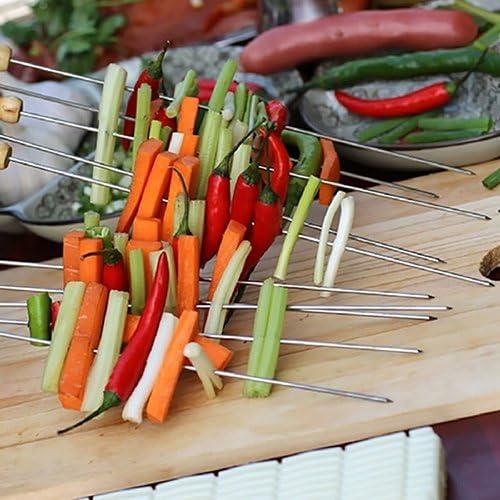 LINL 10pcs réutilisables Kebab Grill Barbecue Needle Torréfaction Torréfaction Outils de Kebabe Stick pour extérieur Pique-Nique Spiess