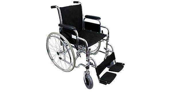 Silla de ruedas plegable (Rueda 300 mm y 600mm) - grande: Amazon.es: Salud y cuidado personal