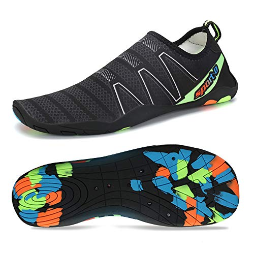 Coolloog Men Women Water Shoes Multifunctional Quick-Dry Barefoot Beach Swim Shoes for with Drainage Holes