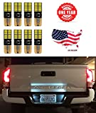 LED Monster Extremely Bright 3030 Chipset LED Bulbs for Car Interior Dome Map Door Courtesy License Plate Lights Compact Wedge T10 168 194 2825 Xenon White Pack of 8