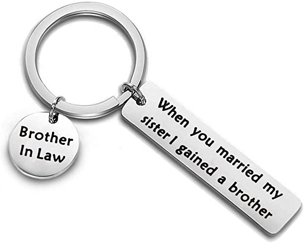 Sister in Law Keychain When I Married Your Brother I Gained a Sister Gift for Sister Sister of The Groom Jewelry Wedding Gift