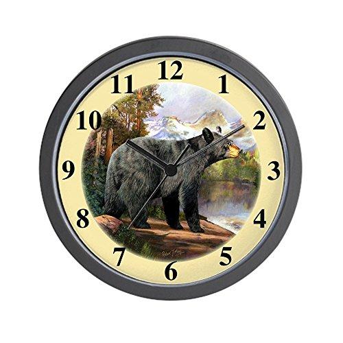 Black Bear Wall Clock - CafePress - Black Bear - Unique Decorative 10