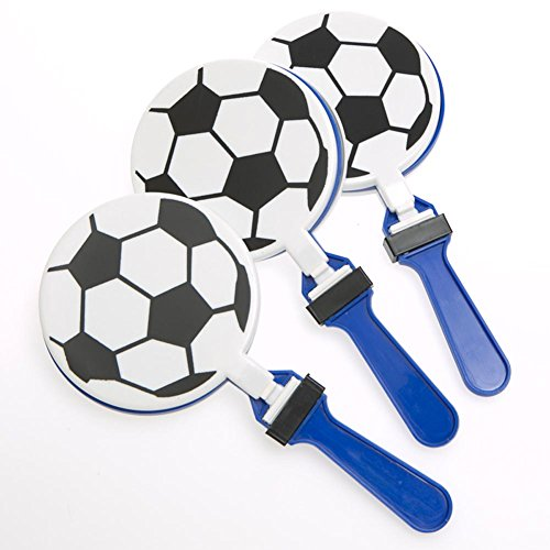 Fun Express Lot of 12 Soccer Clappers Party Favors Game Noisemaker Clacker