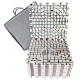 Extra Thick Blocking Mats for Wet and Steam Blocking with Grids and Radial Circles - Set of 9 Marked with Numbers Includes 100 t pins and Storage Bag