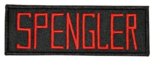 Ghostbusters Spengler Name Tag Iron On Uniform Embroidered Iron On Badge Patch -