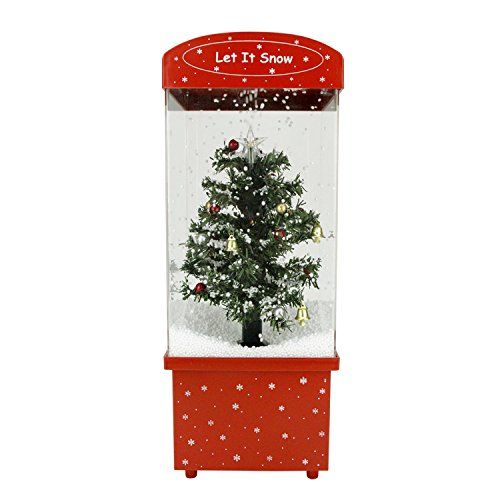 Northlight 16.25'' Lighted Musical Let it Snow Christmas Tree Snow Globe Glitterdome by Northlight