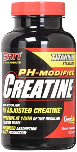 SAN Ph-Modified Creatine Nutritional Supplement, 120 Count