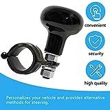 Universal Steering Wheel Spinner Truck Handle Suicide Power Knob Black