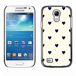 All Phone Most Case / Hard PC Metal piece Shell Slim Cover Protective Case Carcasa Funda Caso de protección para Samsung Galaxy S4 Mini i9190 MINI VERSION! Polka Dot Black Beige White