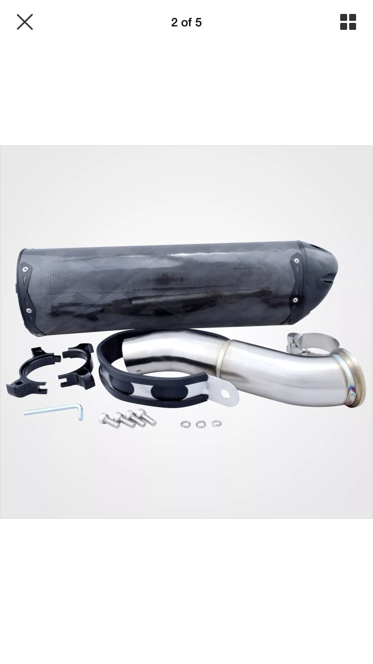 Precision Marine Tools PC-Honda CBR 500R/CB500X/CB500F 2013-2015 Carbon Slip -On Muffler