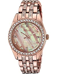 Women's Quartz Stainless Steel and Alloy Casual Watch, Color:Rose Gold-Toned (Model: ZR34421)